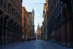 Indipendenza street  Bologna Royalty Free Stock Images