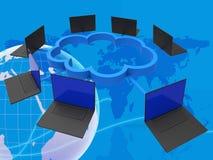 Indique dans le monde entier Lan Network And Computer Images stock
