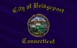 Indique la bandera de Bridgeport - una ciudad en los Estados Unidos, en Conne libre illustration