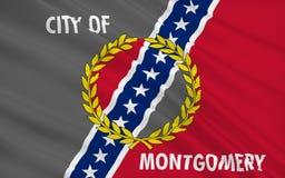 Indique la bandera de Montgomery - la capital de Alabama, los E.E.U.U. imágenes de archivo libres de regalías