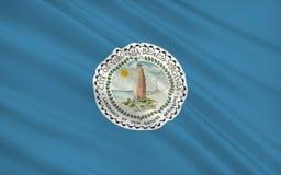 Indique la bandera de Virginia Beach - una ciudad en los Estados Unidos, lugares geométricos imagenes de archivo