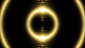 Indique la luz y el fondo transparente, lazo del oro stock de ilustración
