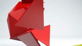 Indique los gráficos del fondo geométrico abstracto de la transformación de la forma 3d almacen de video