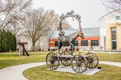 Indique a parte externa ao lado de Boise Rose Garden em Boise Art Museum imagens de stock royalty free