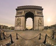 Indique a torre após o por do sol, Banguecoque, Tailândia. Paris, opinião do peixe-olho Fotografia de Stock Royalty Free