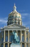 Indiquez le capitol de l'Iowa photo stock