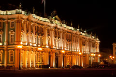 Indiquez le musée d'ermitage (palais de l'hiver) - RU célèbre Photographie stock libre de droits