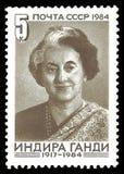 Indira Gandhi fotos de archivo