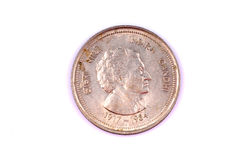 Indira Gandhi coin Royalty Free Stock Photo