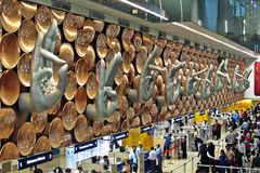 Indira Gandhi International Airport Stock Photo