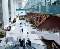 Indira Gandhi International Airport Terminal Stockbild