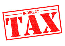 INDIRECT TAX. Red Rubber Stamp over a white background Stock Photography