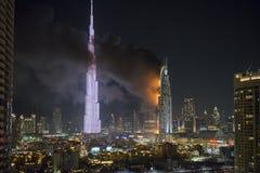 Indirizzi l'hotel del centro, dopo che ha preso il fuoco Fotografie Stock Libere da Diritti