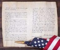 Indirizzo del ` s Gettysburg di presidente Abraham Lincoln Fotografia Stock