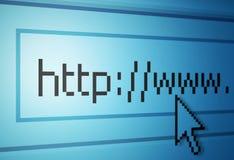Indirizzo di Web Fotografia Stock