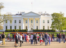Indirizzo più famoso negli Stati Uniti - Il WASHINGTON DC di casa bianco - COLOMBIA - 7 aprile 2017 Fotografia Stock