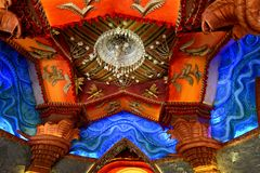 Indisch Art During Durga Festival Stock Fotografie