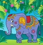 Indisch beeld 2 van het olifantsonderwerp royalty-vrije illustratie