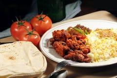Indisch biryanivoedsel met kippenmasala Stock Fotografie