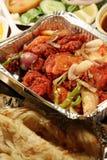 Indisch biryanivoedsel met kippenmasala Royalty-vrije Stock Foto's