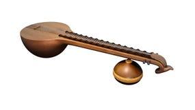 Indisch de muziekinstrument van Veena- Stock Fotografie
