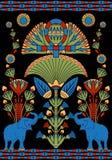 Indisch decoratief patroon Stock Afbeeldingen