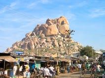 Indisch Dorp van Uravakonda Royalty-vrije Stock Foto