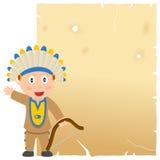 Indisch en Oud Perkament Royalty-vrije Stock Afbeeldingen