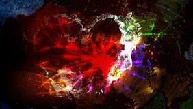 Indisch festival van holi kleurrijke lichte achtergrond stock afbeeldingen
