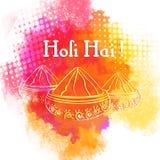 Indisch Festival van Kleuren, Holi-vieringsconcept Royalty-vrije Stock Afbeelding