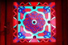 Indisch gebrandschilderd glas Stock Fotografie