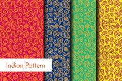Indisch Gedetailleerd en gemakkelijk editable Patroon - Royalty-vrije Stock Foto's