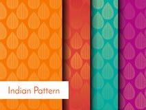 Indisch Gedetailleerd en gemakkelijk editable Patroon - Stock Foto