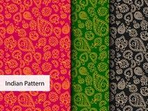 Indisch Gedetailleerd en gemakkelijk editable Patroon - Stock Fotografie