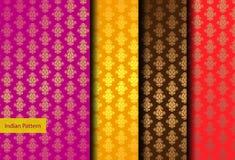 Indisch Gedetailleerd en gemakkelijk editable Patroon - Royalty-vrije Stock Afbeelding