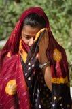 Indisch Gujarati-dorps jong meisje Stock Foto