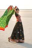 Indisch Gujarati-dorps jong meisje Stock Afbeeldingen