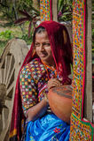 Indisch Gujarati-dorps jong meisje Stock Foto's