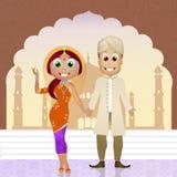 Indisch Huwelijk royalty-vrije illustratie