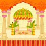 Indisch huwelijk mandap stock illustratie