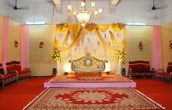 Indisch huwelijk mandap stock foto's