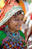 Indisch jong het dorpsmeisje van Gujarati Royalty-vrije Stock Afbeelding