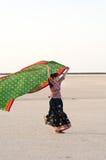 Indisch jong het dorpsmeisje van Gujarati Stock Fotografie