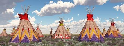 Indisch kamp royalty-vrije illustratie