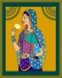 Indisch Koningin/prinsesportret Royalty-vrije Stock Afbeeldingen