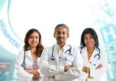 Indisch medisch team Royalty-vrije Stock Afbeeldingen