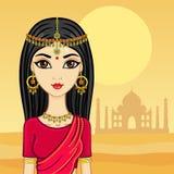 Indisch meisje royalty-vrije illustratie