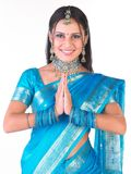 Indisch meisje dat onthaal zegt royalty-vrije stock afbeeldingen