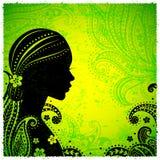 Indisch meisje met een bloem Royalty-vrije Stock Foto