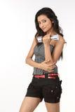 Indisch meisje met stomme klokken royalty-vrije stock foto
